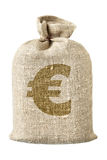 Money-bag mit Eurosymbol lizenzfreie stockfotografie