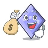 With money bag rhombus character cartoon style. Vector illustration vector illustration