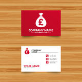 Money bag sign icon. Pound GBP currency. Royalty Free Stock Image