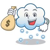 With money bag snow cloud character cartoon Stock Photography