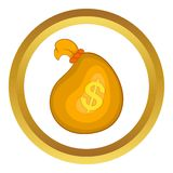 Money bag vector icon Royalty Free Stock Images