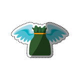Money bag with wings Royalty Free Stock Photography