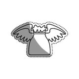 Money bag with wings Royalty Free Stock Photo