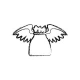 Money bag with wings Stock Image