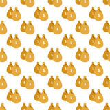 Money bags pattern seamless Stock Photos
