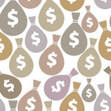 Money bags seamless background. Stock Images