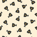 Money bags seamless pattern with dollar sign Royalty Free Stock Photos