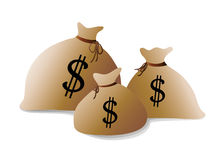 Money bags vector Royalty Free Stock Images