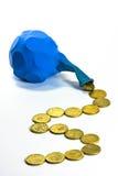 Money balloon Stock Photo