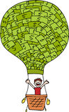 Money Balloon. Image representing financial freedom - metaphor Stock Images