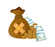 money band aid fix solution concept Royalty Free Stock Photos