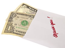 Money in a Bank Envelope Stock Photos