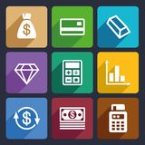 Money and bank Flat Icons Set 41. Money and bank Flat Icons Set  for Web and Mobile Applications Royalty Free Stock Photography
