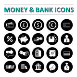 Money & bank icons Royalty Free Stock Photography