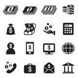 Money, Bank , investment icons set Royalty Free Stock Photo