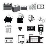 Money banking and wealth icons Stock Images