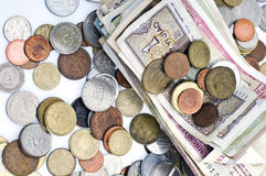 Money, banknote and coins Stock Photo