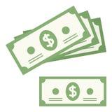 Money Banknote Flat Icon Isolated on White Royalty Free Stock Photos