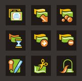 Money and Banknote Icons Stock Photos