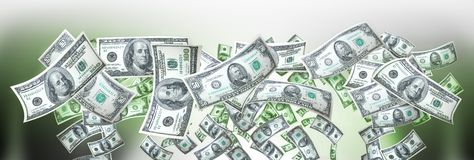 Money banner stock photos