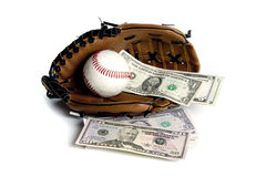 Money and base ball Stock Images