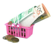 Money basket Royalty Free Stock Photography