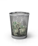 Money in basket. Royalty Free Stock Photos