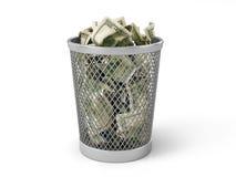 Money in basket. Stock Photos