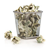 Money in a basket Royalty Free Stock Photos