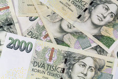 Money. A batch of CZK (2000, Czech Koruna Royalty Free Stock Images