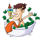 Money Bathe Royalty Free Stock Photos