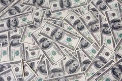 Money bbackground. Bacground of hundred dollar bills Stock Photos