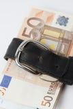Money in a belt Stock Image