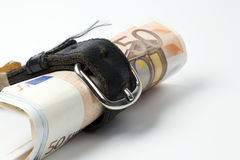Money in a belt Royalty Free Stock Image