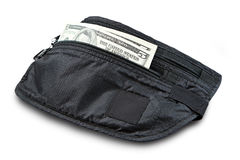 Money belt for anti-theft. Stock Photo