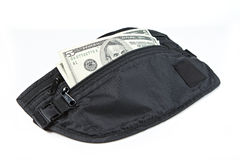 Money belt for anti-theft Stock Photos