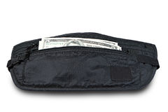 Money belt for anti-theft isolated on white. Clipping path. Money belt for anti-theft isolated on white. Clipping path Royalty Free Stock Image