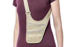 Money belt bag. royalty free stock images