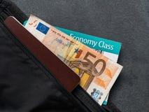 Money Belt With Passport Stock Photography