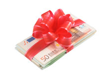 Money - the best gift. royalty free stock photography