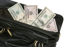 Money in big bag Stock Images