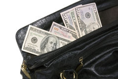 Money in big bag Stock Photo
