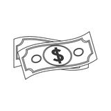 Money bill icon Stock Photography
