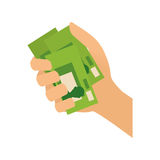 Money billet cash. Icon illustration graphic design royalty free illustration