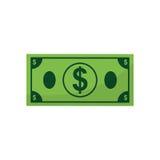 Money billet cash. Icon illustration graphic design stock illustration