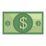 Money billet isolated flat design. Stock Photo