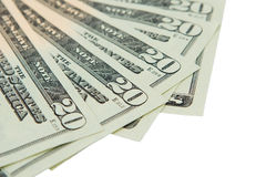 Money. $20 bills Royalty Free Stock Photo
