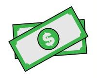 Money bills cartoon sticker in retro style Stock Photography