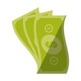 Money bills cash dollar color shadow Royalty Free Stock Image