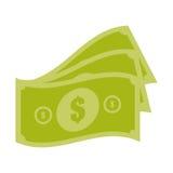 Money bills cash dollar design. Vector illustration eps 10 Royalty Free Stock Photography